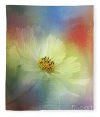 Cosmos Dreaming Abstract By Kaye Menner Fleece Blanket