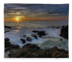 Costa Rica Sunrie Fleece Blanket