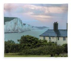 Costguard Cottages Seven Sisters - England Fleece Blanket