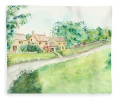 Cotswold Cottages Fleece Blanket