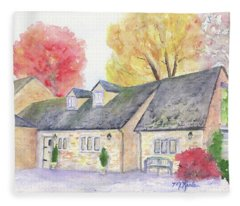 Cotswolds Cottage Fleece Blanket