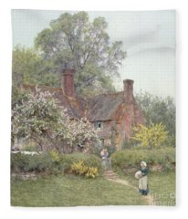 Cottage At Chiddingfold Fleece Blanket