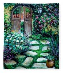 Cottage Gates Fleece Blanket