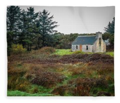 Cottage In The Irish Countryside Fleece Blanket