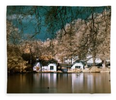 Cottage On The Lake Fleece Blanket