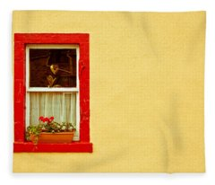 Cottage Window Fleece Blanket