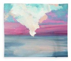 Cotton Candy Clouds Fleece Blanket