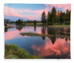 Cotton Candy Skies Fleece Blanket