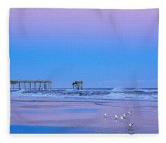 Cotton Candy Sunset Fleece Blanket