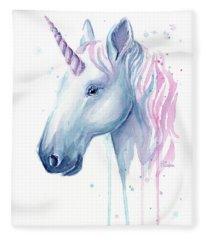 Cotton Candy Unicorn Fleece Blanket