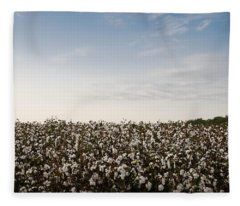 Cotton Field 2 Fleece Blanket