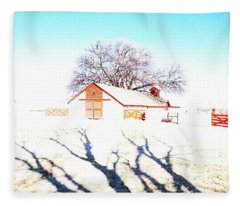 Cottonwood Ranch, Kansas Fleece Blanket