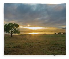 Cottonwood Sunrise Fleece Blanket