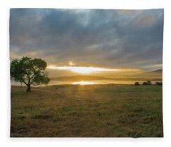 Cottonwood Sunrise Fleece Blanket