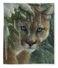 Cougar - Mountain Lion - Frozen Fleece Blanket
