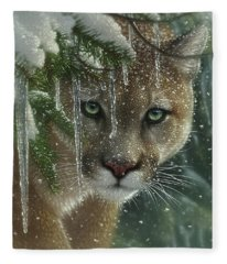 Cougar - Mountain Lion - Frozen Fleece Blanket