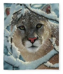 Cougar - Silelnt Encounter Fleece Blanket