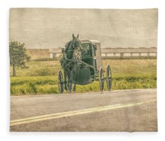 Country Amish Ride  Fleece Blanket