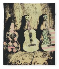 Country And Western Saloon Songs Fleece Blanket