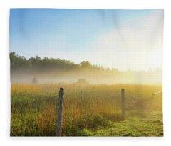 Country Fencerow Fleece Blanket