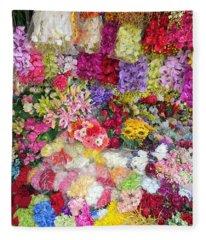 Country Flower Garden Colourful Design Fleece Blanket