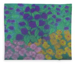 Country Garden Inspiration Fleece Blanket