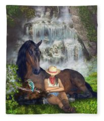 Country Memories 1 Fleece Blanket