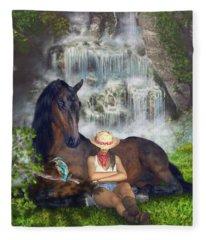 Country Memories 1 Fleece Blanket