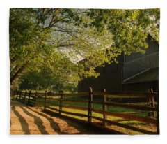 Country Morning - Holmdel Park Fleece Blanket
