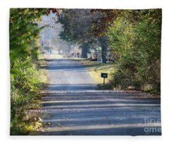 Country Road Of My Memory Fleece Blanket