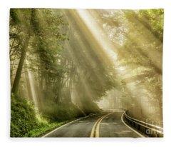 Country Road Rays Of Light Fleece Blanket