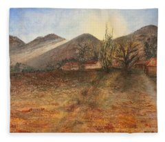 Country Sunset Fleece Blanket