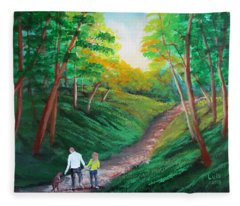 Country Walk Fleece Blanket