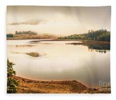 Country Waters Fleece Blanket