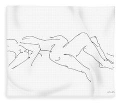 Couples Erotic Art 4 Fleece Blanket