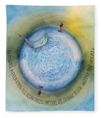 Courage To Lose Sight Of The Shore Orb Mini World Fleece Blanket