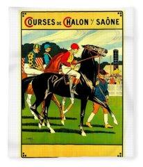 Courses De Chalon French Horse Racing 1911 II Fleece Blanket