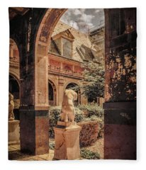 Paris, France - Courtyard East - L'ecole Des Beaux-arts Fleece Blanket