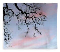 Cove Fort Sunset Tree Fleece Blanket