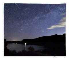 Night At  The Cove Palisades Fleece Blanket
