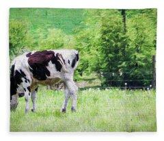 Cow Grazing Fleece Blanket