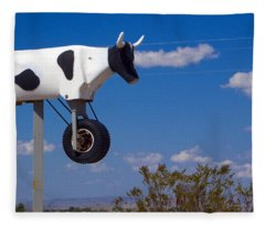 Fleece Blanket featuring the photograph Cow Power by Skip Hunt