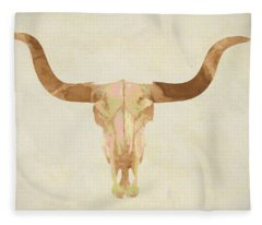 Cow Skull Fleece Blanket