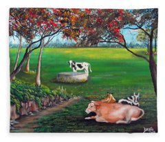 Cow Tales Fleece Blanket