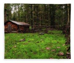 Cowboy Camp Fleece Blanket