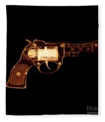 Cowboy Gun 002 Fleece Blanket