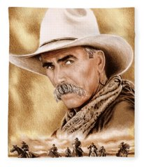 Cowboy Sepia Edit Fleece Blanket