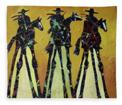 Cowboy Sundown Fleece Blanket