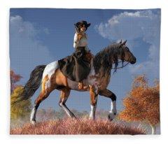 Cowgirl Fleece Blanket