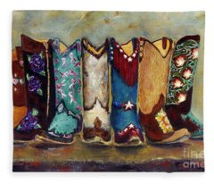 Cowgirls Kickin The Blues Fleece Blanket